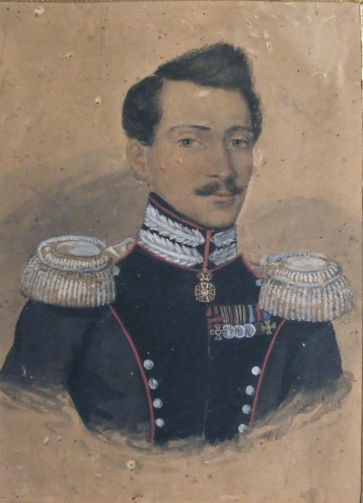 Александр Ефимович Бкхмейер в мундире полковника лейб-гвардии Саперного Батальона 1832 год