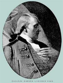 полковник Иоган Готлиб Ралль (ок. 1726 - 26. 12. 1776)
